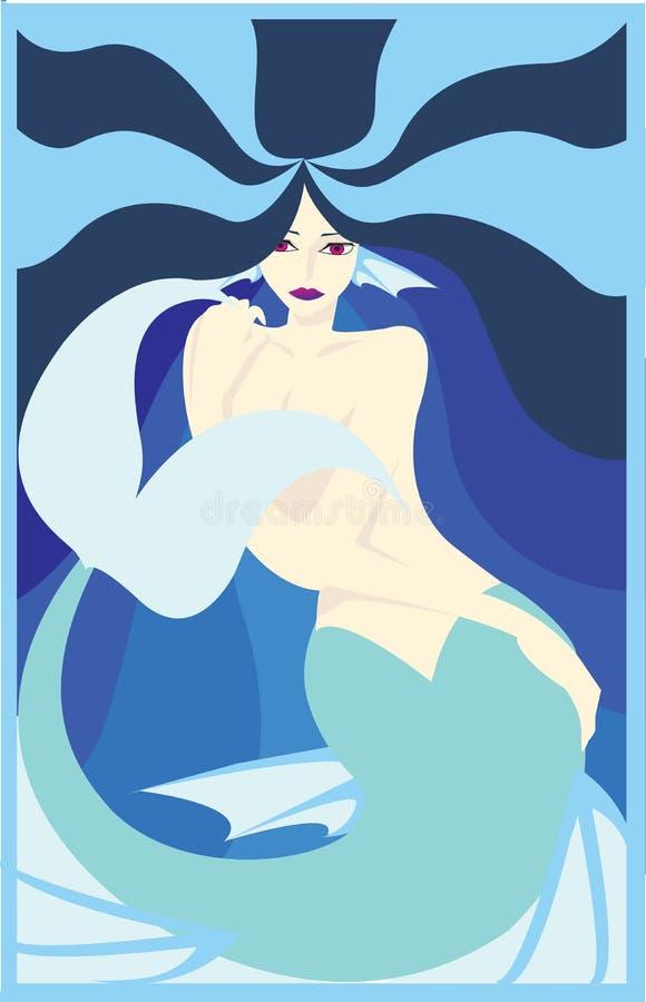Download Mermaid stock vector. Image of adult, love, manga, cute - 2764947