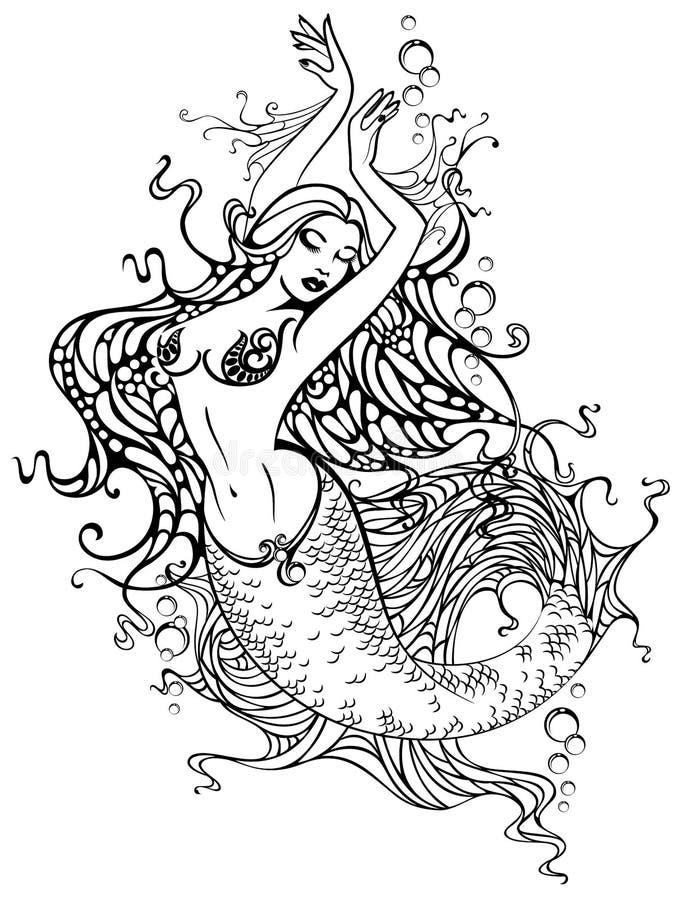mermaid иллюстрация вектора