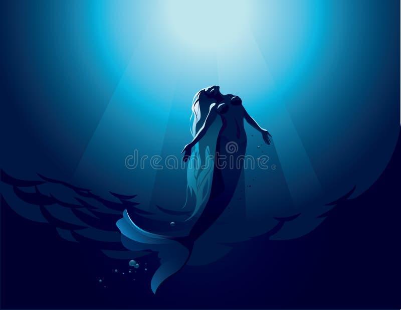 mermaid illustrazione vettoriale