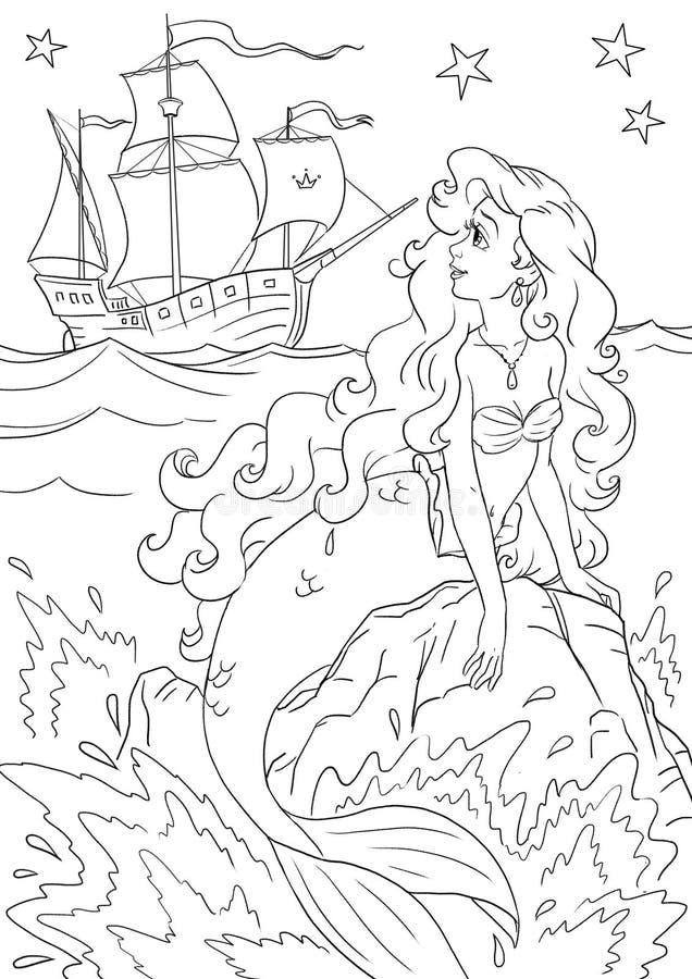 mermaid royaltyfri illustrationer