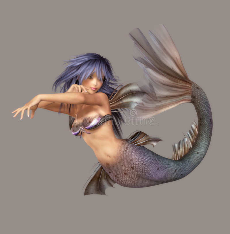 Mermaid. Fantasy figure for your artistic creations and/or projects