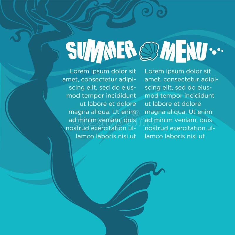 mermaid ilustração royalty free