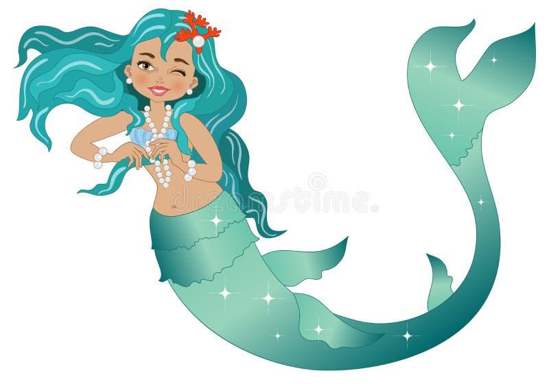 mermaid illustrazione di stock