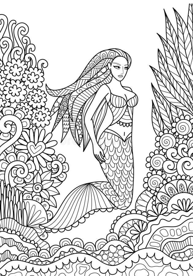 mermaid ilustração stock