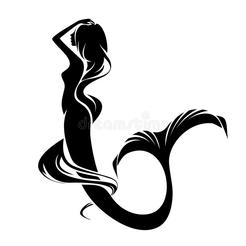 Mermaid. Abstract portrait of a beautiful mermaid