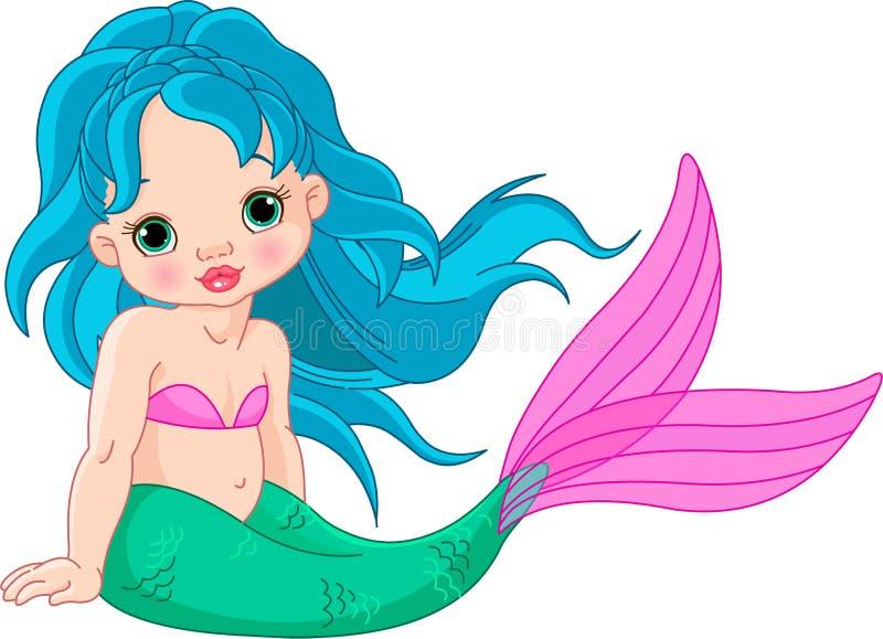 Mermaid baby Girl stock illustration