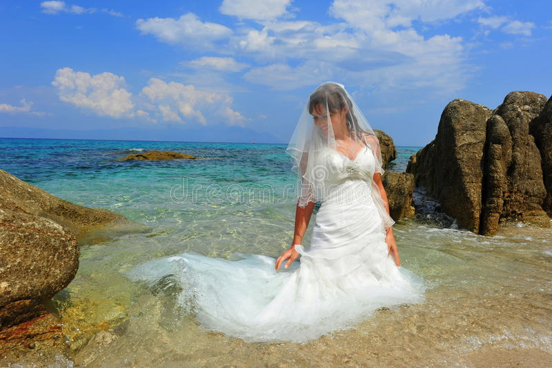 Mermaid bride royalty free stock images