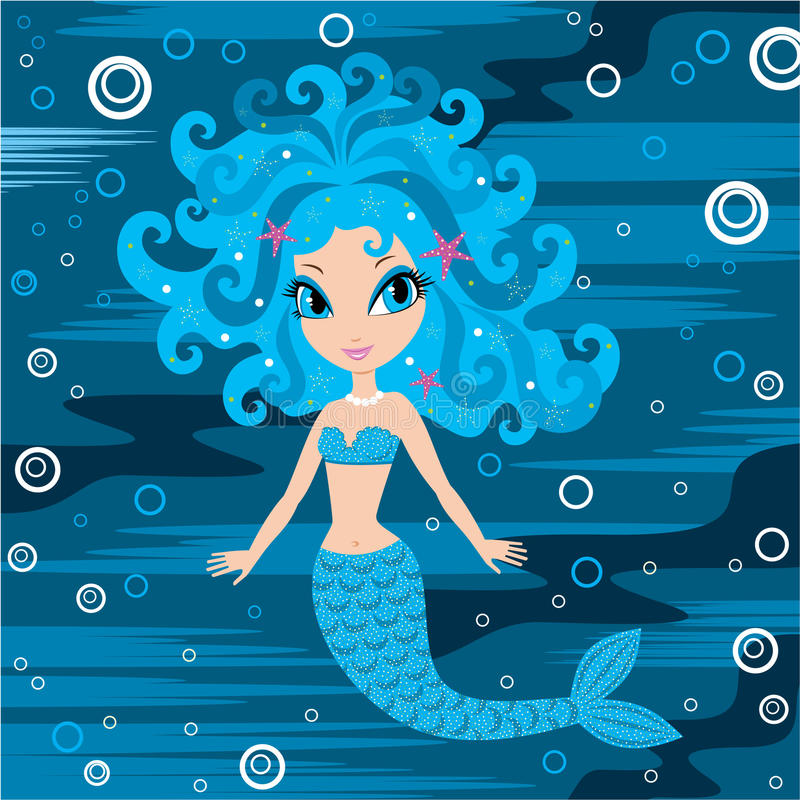 Mermaid cartoon stock vector. Illustration of nature ...