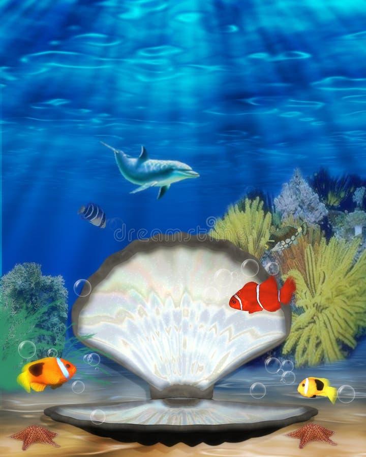 mermaid clam стоковое фото