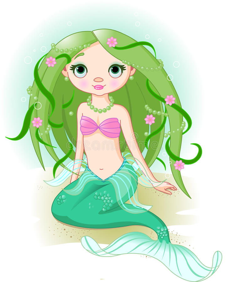 Mermaid Girl royalty free illustration