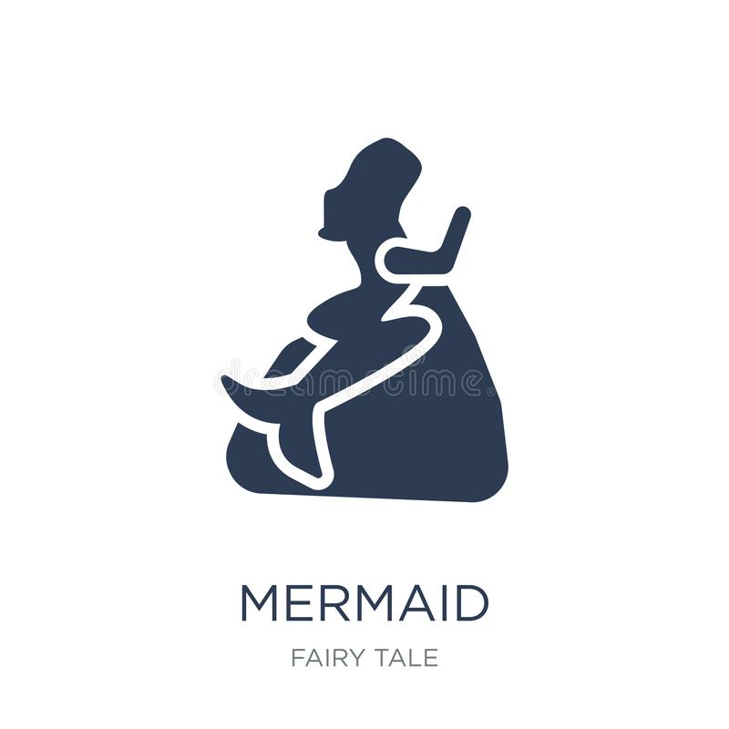 Mermaid icon. Trendy flat vector Mermaid icon on white background from Fairy Tale collection royalty free illustration