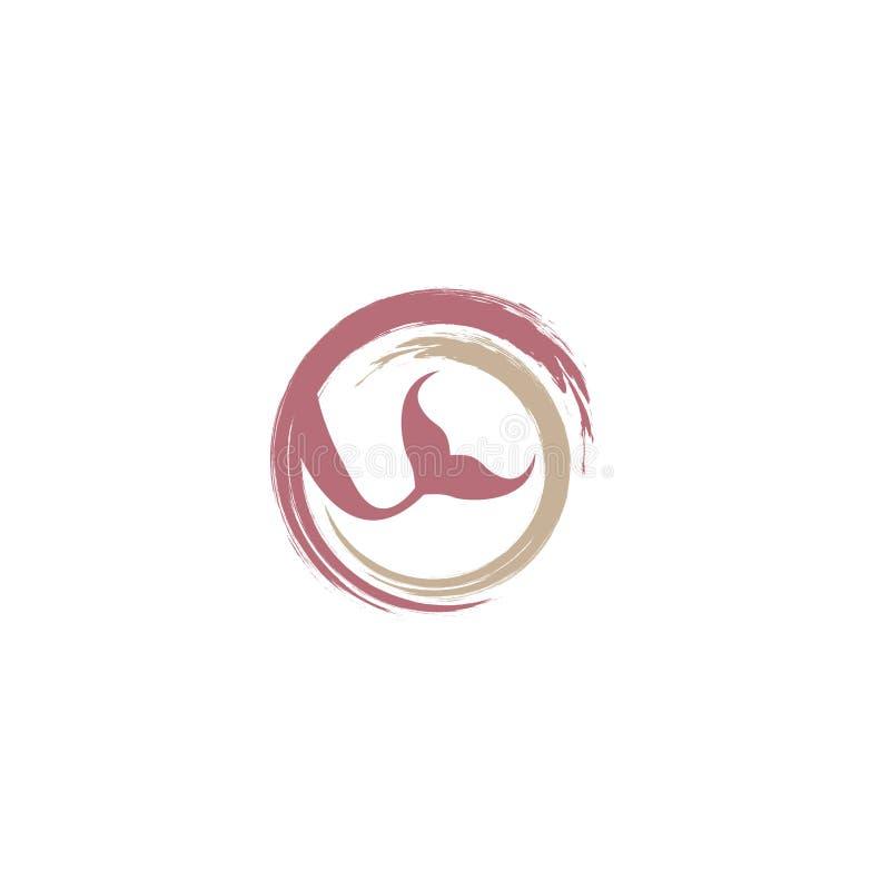 Mermaid logo icon design, vector illustration. mermaid vector silhouette illustration. Mermaid tail logo vector. stock illustration