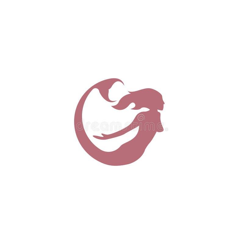Mermaid logo icon design, vector illustration. mermaid vector silhouette illustration. Mermaid tail logo vector. vector illustration