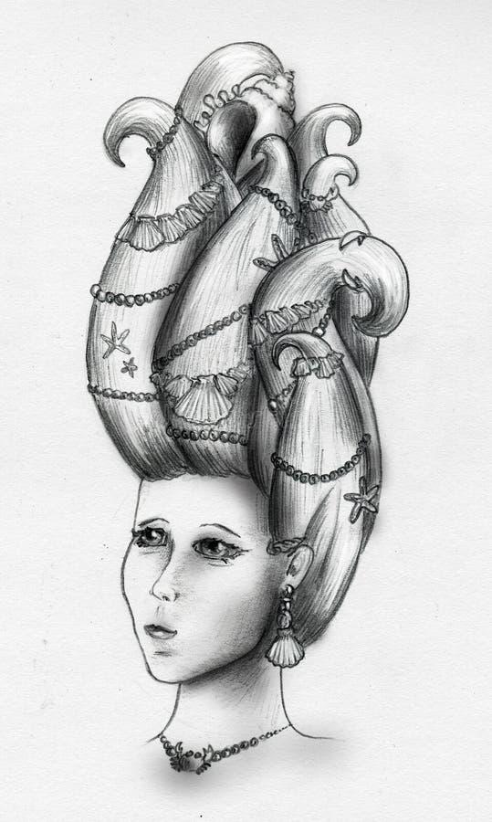 Download Mermaid queen stock illustration. Illustration of fantasy - 11934338
