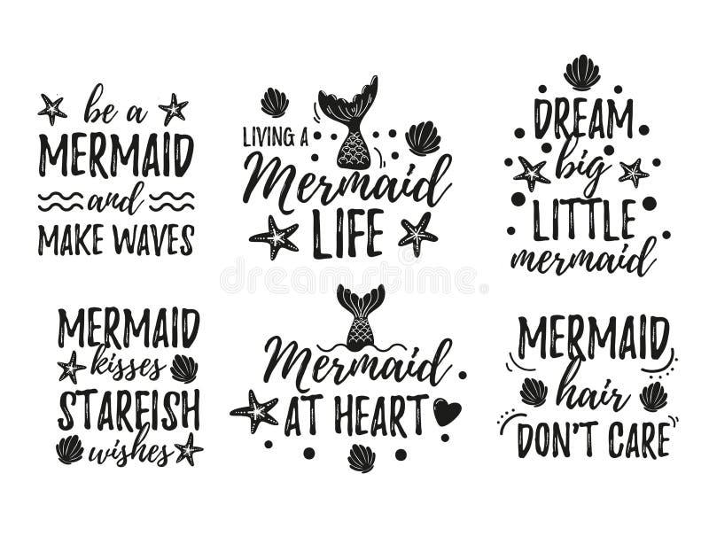 Mermaid Quotes Stock Illustrations – 130 Mermaid Quotes ...