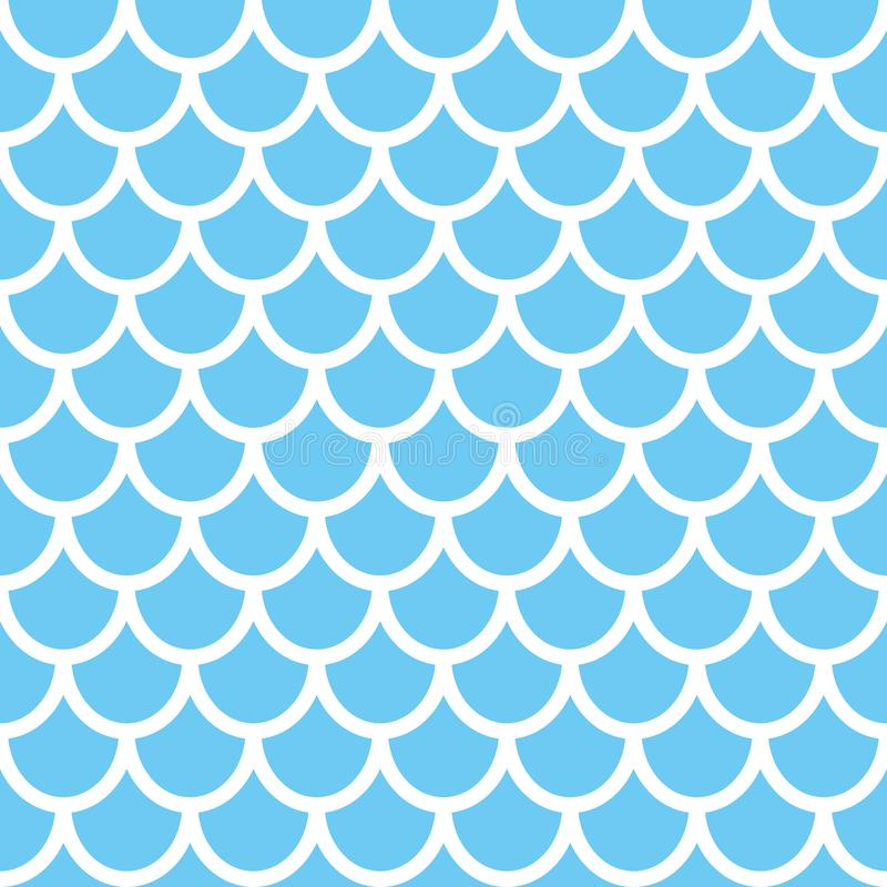 Mermaid seamless pattern. Fish scale background. Blue texture for your design royalty free illustration