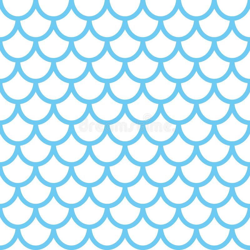 Mermaid seamless pattern. Fish scale background. Blue texture for your design vector illustration