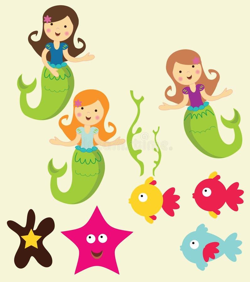 Download Mermaid Under The Sea Graphics Stock Vector - Image: 19307304