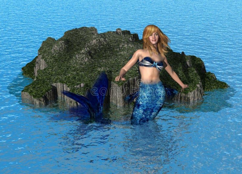 mermaidhav stock illustrationer