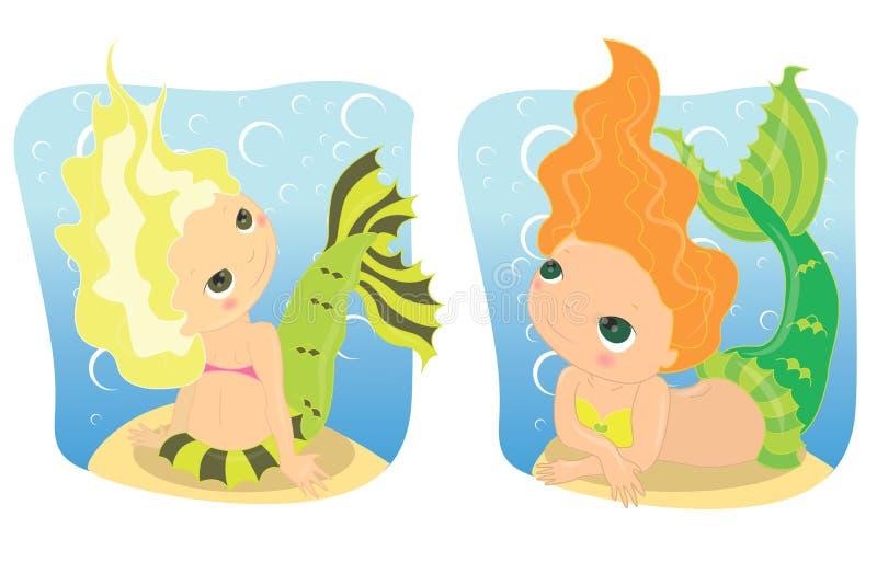 mermaids иллюстрация штока