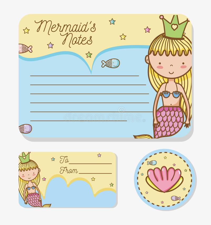 Download Mermaids printable sheet stock vector. Illustration of drawn - 110278082