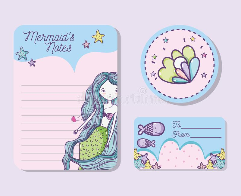 Download Mermaids printable sheet stock vector. Illustration of doodle - 110278146