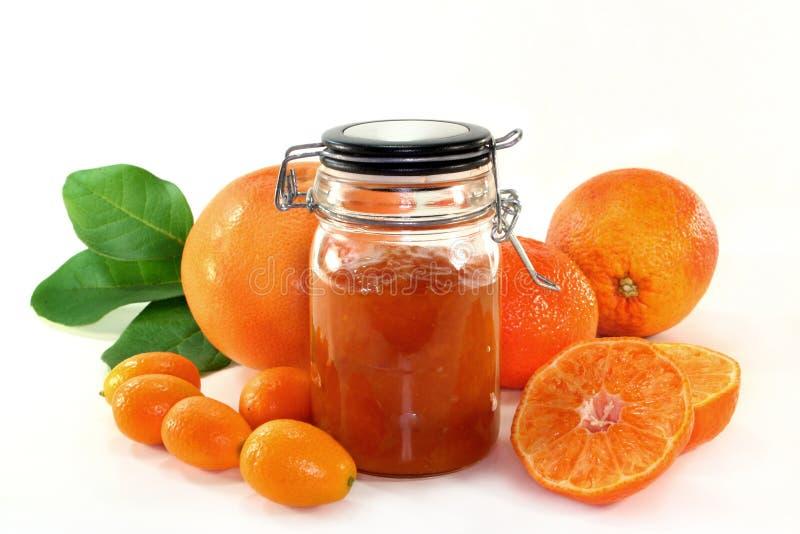 Mermelada anaranjada fotografía de archivo libre de regalías