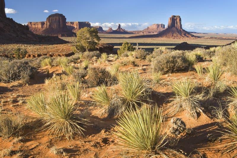 Merrick Butte en de vormingen van de Vallei van het Monument, Arizona stock fotografie
