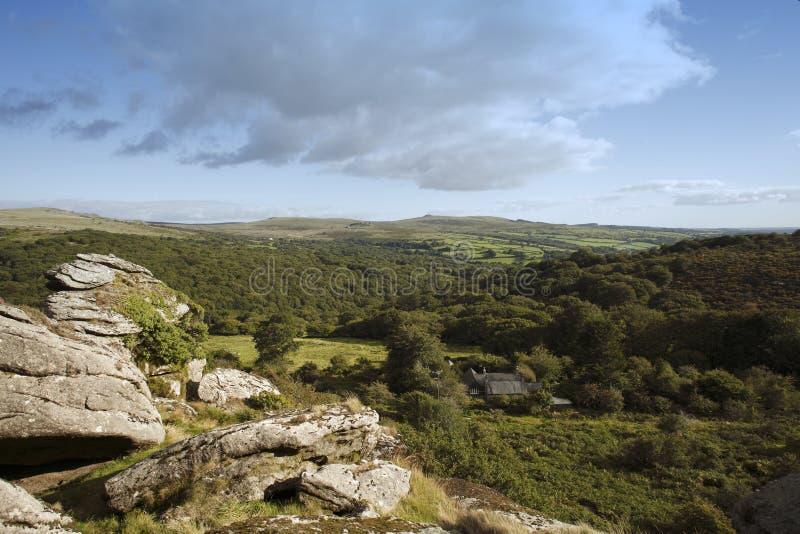 Merrivale del parque nacional de Dartmoor y tor del vixen fotos de archivo libres de regalías