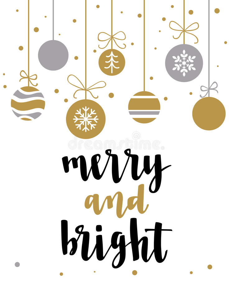 Merry and Bright. stock illustration