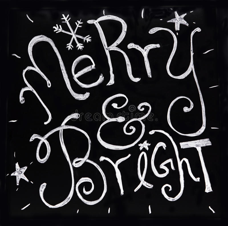 Merry and Bright holidays royalty free stock images