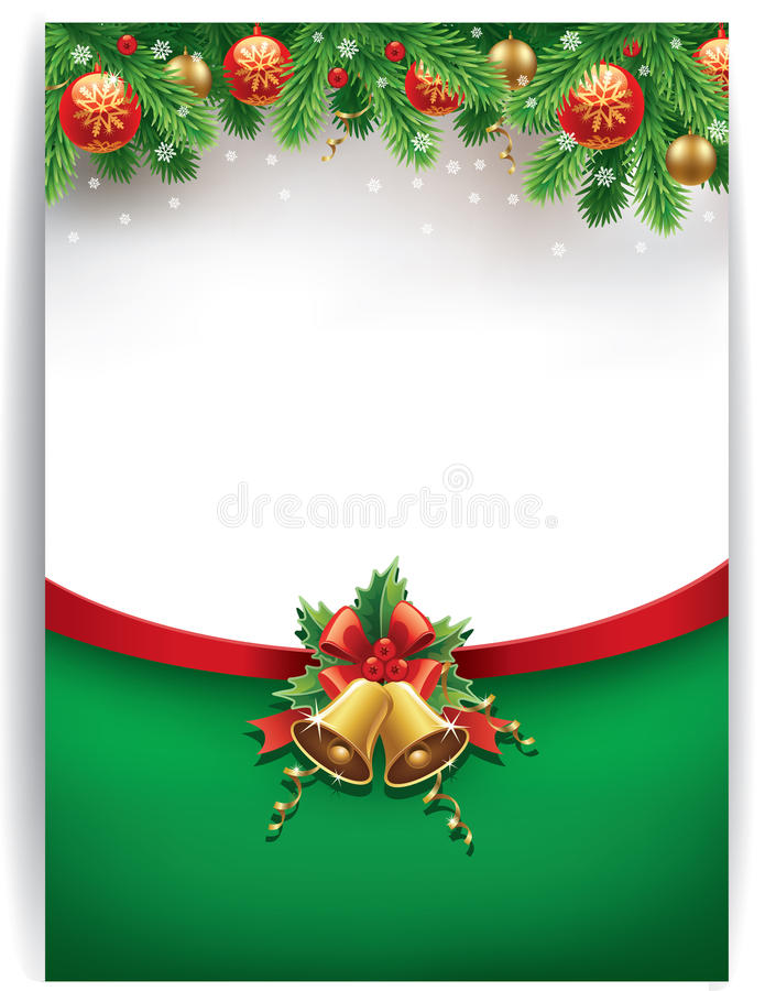 Merry chrismas background with place for text vector illustration