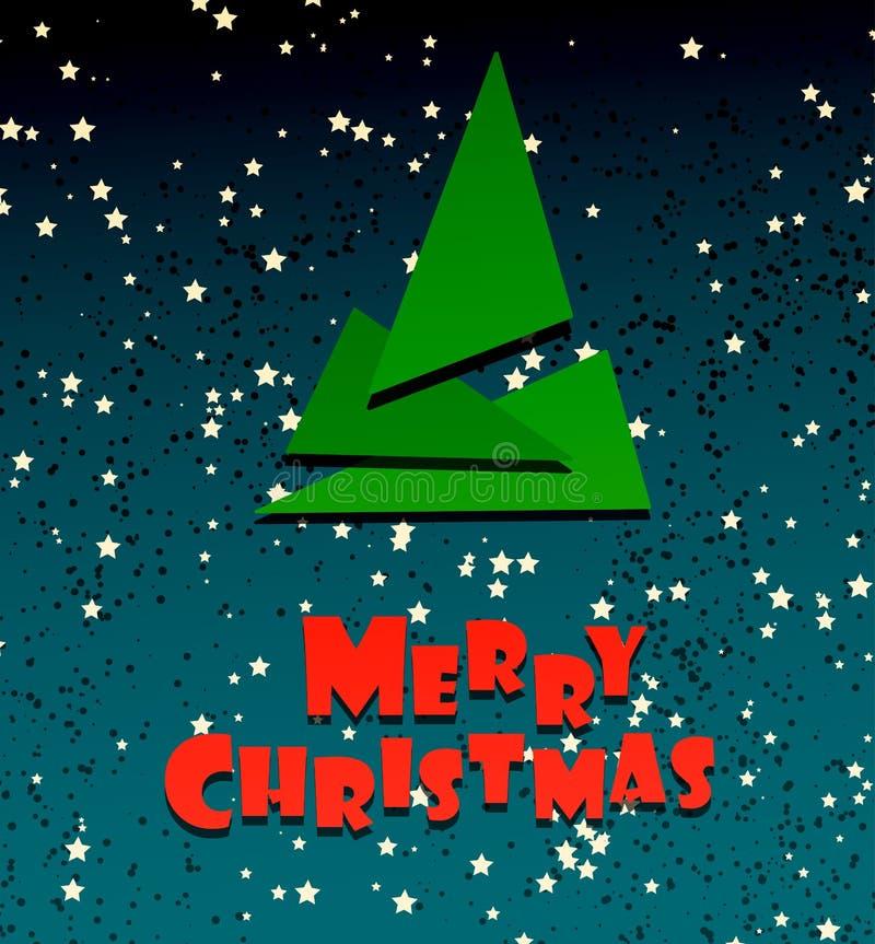 Merry Chrismas festive creative card stock illustration