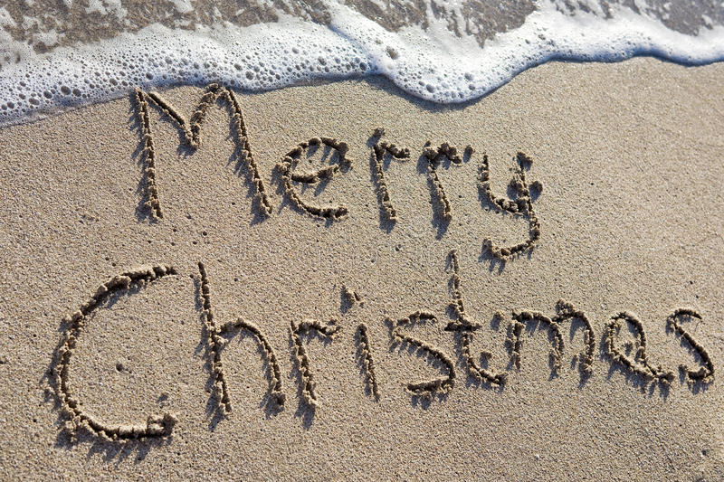 Download Merry Christmas stock image. Image of caribbean, beach - 16115127
