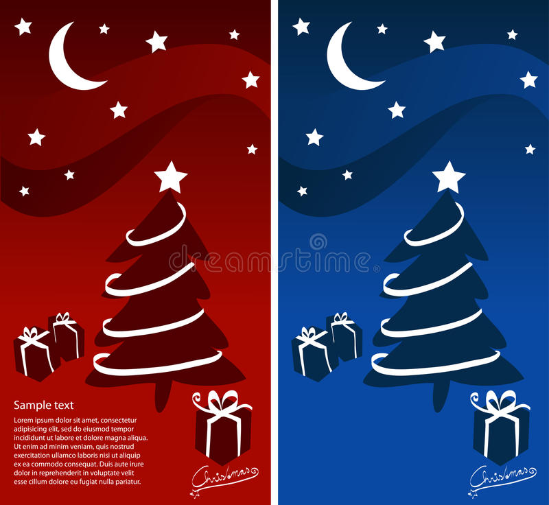 Download Merry Christmas stock vector. Image of cold, card, gradient - 16700540