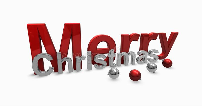 Download Merry christmas stock illustration. Image of chrome, event - 16765665