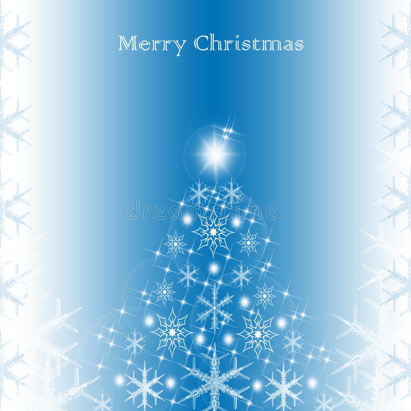 Merry Christmas. Greeting card. Abstract light background royalty free illustration