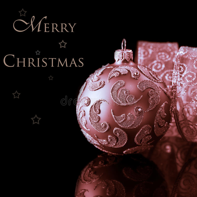 Download Merry Christmas stock image. Image of ribbon, sepia, text - 17366705