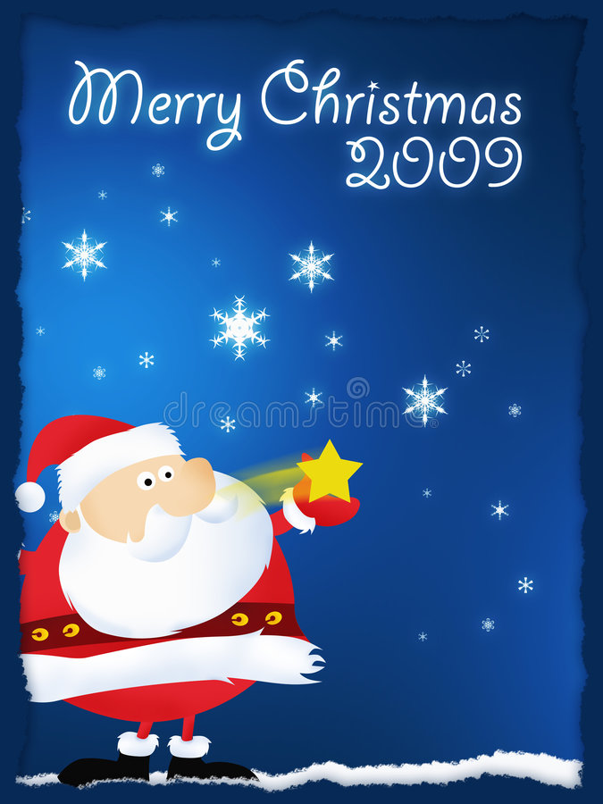 Download Merry Christmas 2009 Santa stock illustration. Image of santaclaus - 6601735