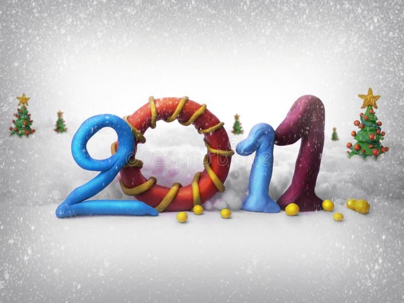 Merry christmas 2011 stock photos