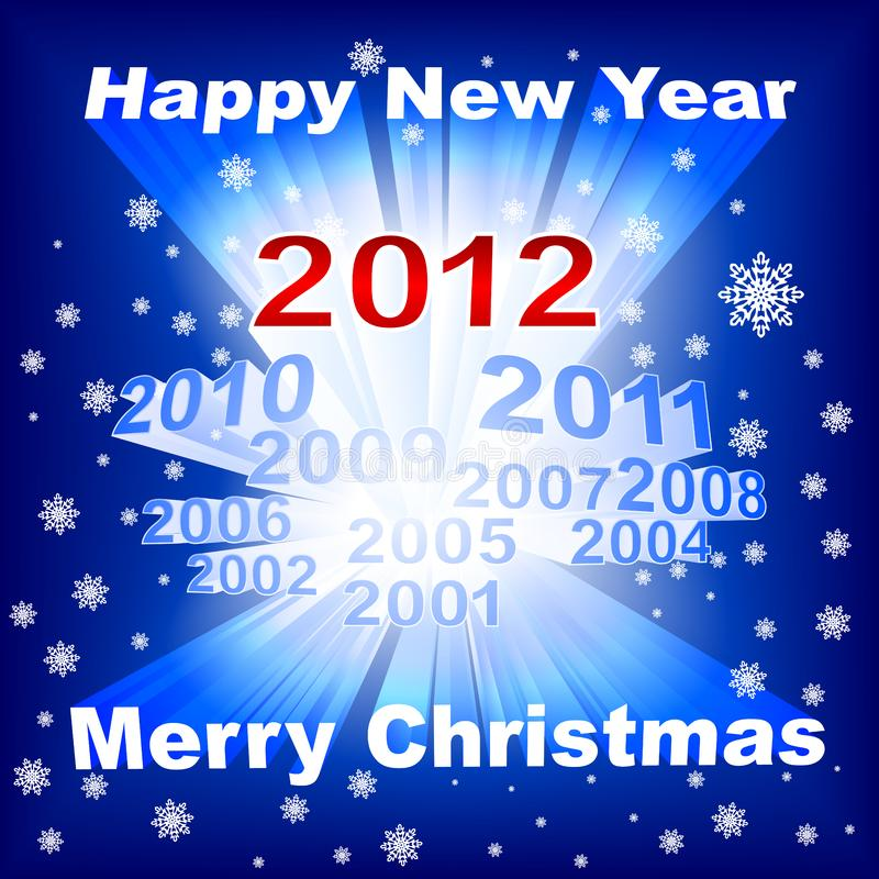 Merry Christmas 2012 blue background