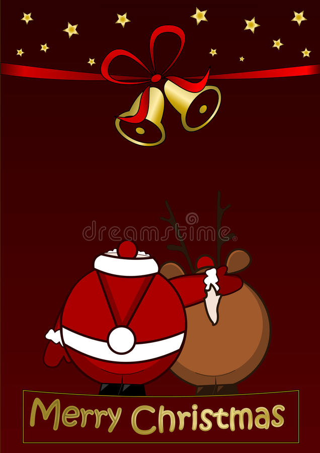 Download Merry Christmas stock illustration. Image of decor, card - 21955141