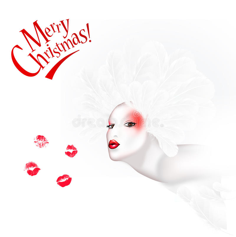 Download Merry Christmas stock illustration. Image of blowing - 24553851