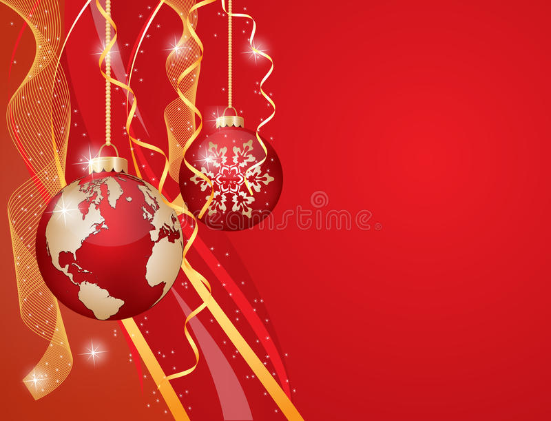 Download Merry Christmas stock vector. Image of garland, tree - 26398345