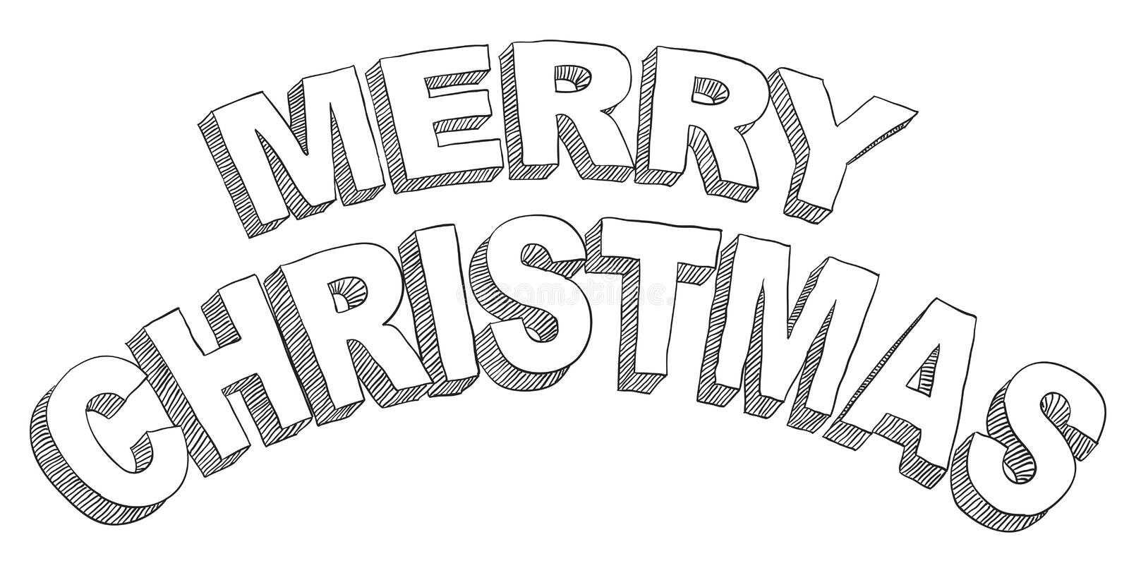 Download Merry christmas stock vector. Image of letters, letter - 26611488