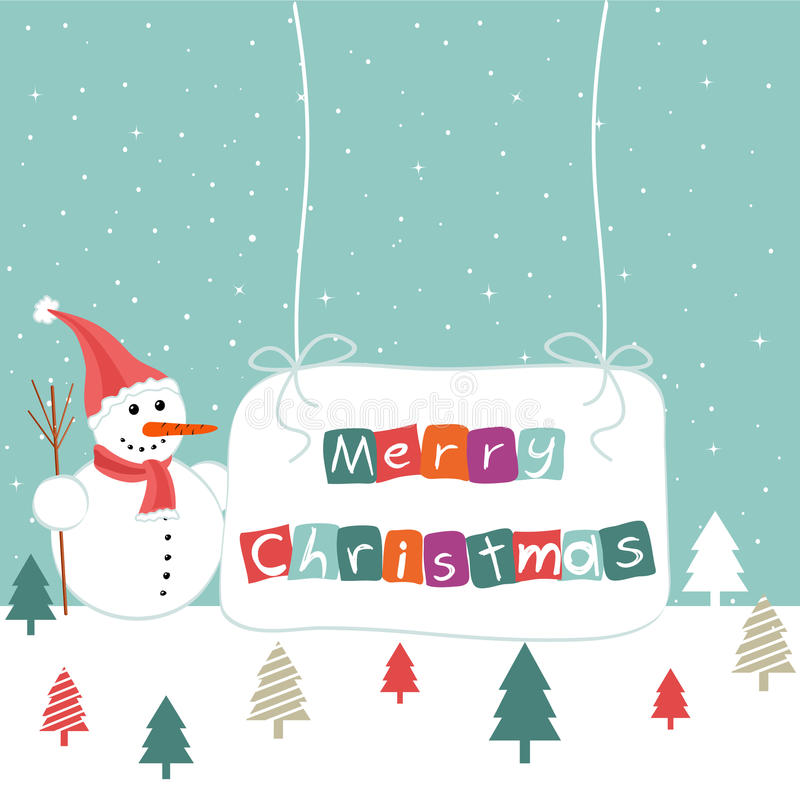 Download Merry Christmas stock image. Image of snowflake, snowman - 28233359