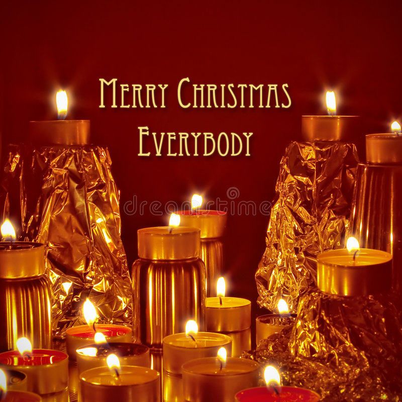 Merry christmas. A photography of a merry christmas postcard royalty free stock photo