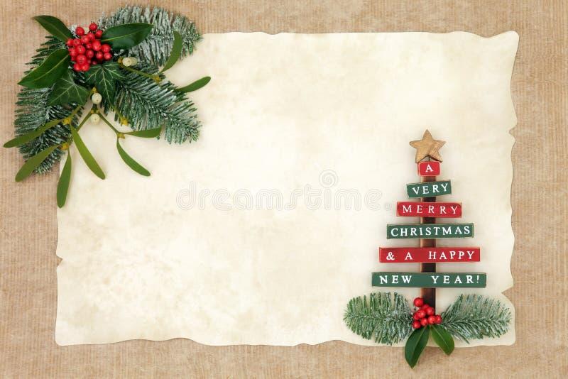 Merry Christmas Background Border royalty free stock image