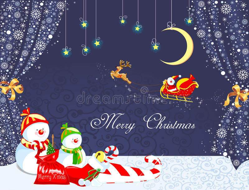 Download Merry christmas background stock vector. Image of celebration - 33716373