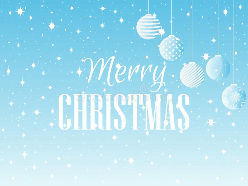 Merry Christmas. Background with Christmas balls and snowflakes. Vector. Illustration stock illustration